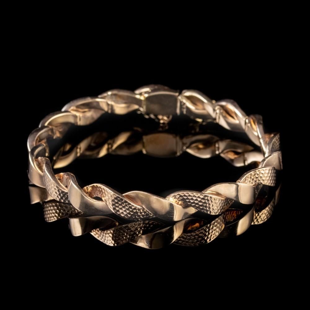 antique victorian bangle 9ct rose gold bracelet circa 1880