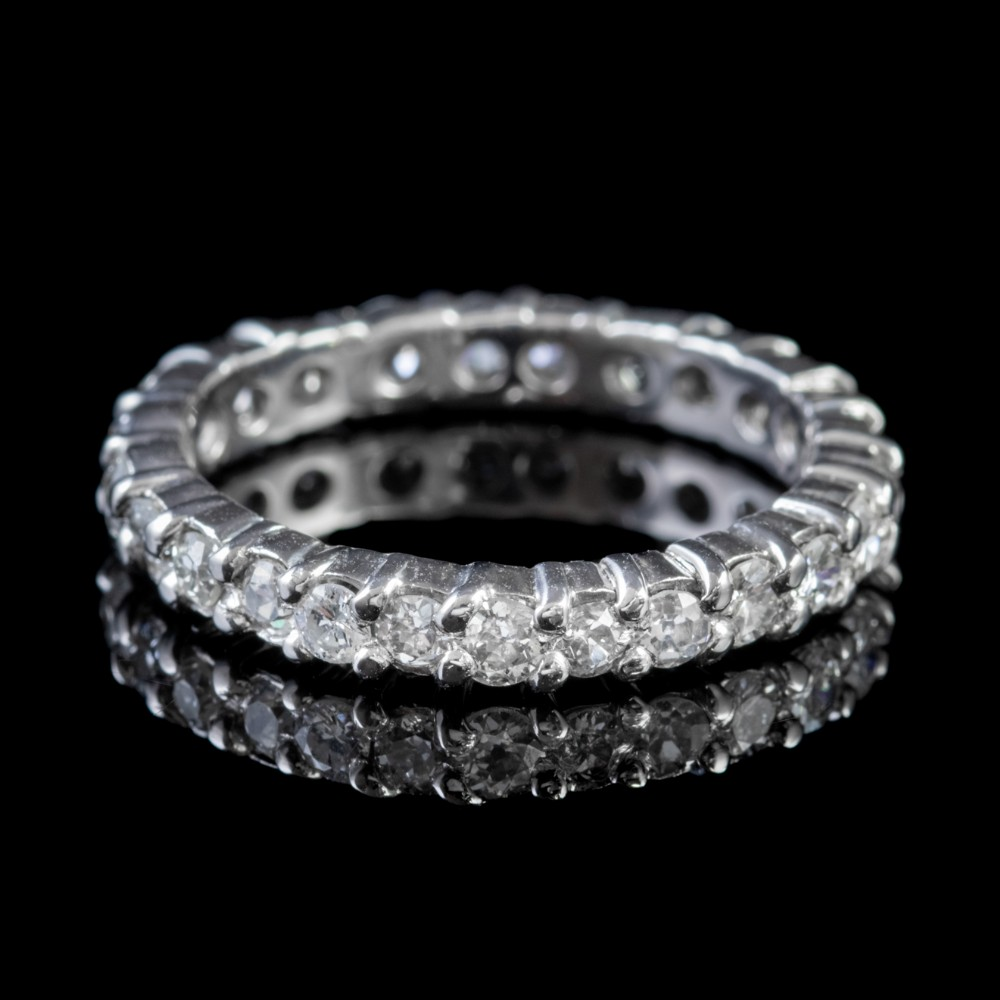 antique edwardian diamond full eternity ring 2ct diamond 18ct gold circa 1915