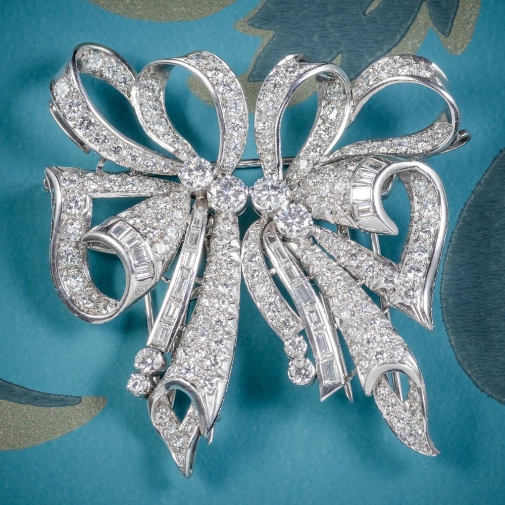 antique french edwardian 15ct diamond double clip brooch platinum circa 1915