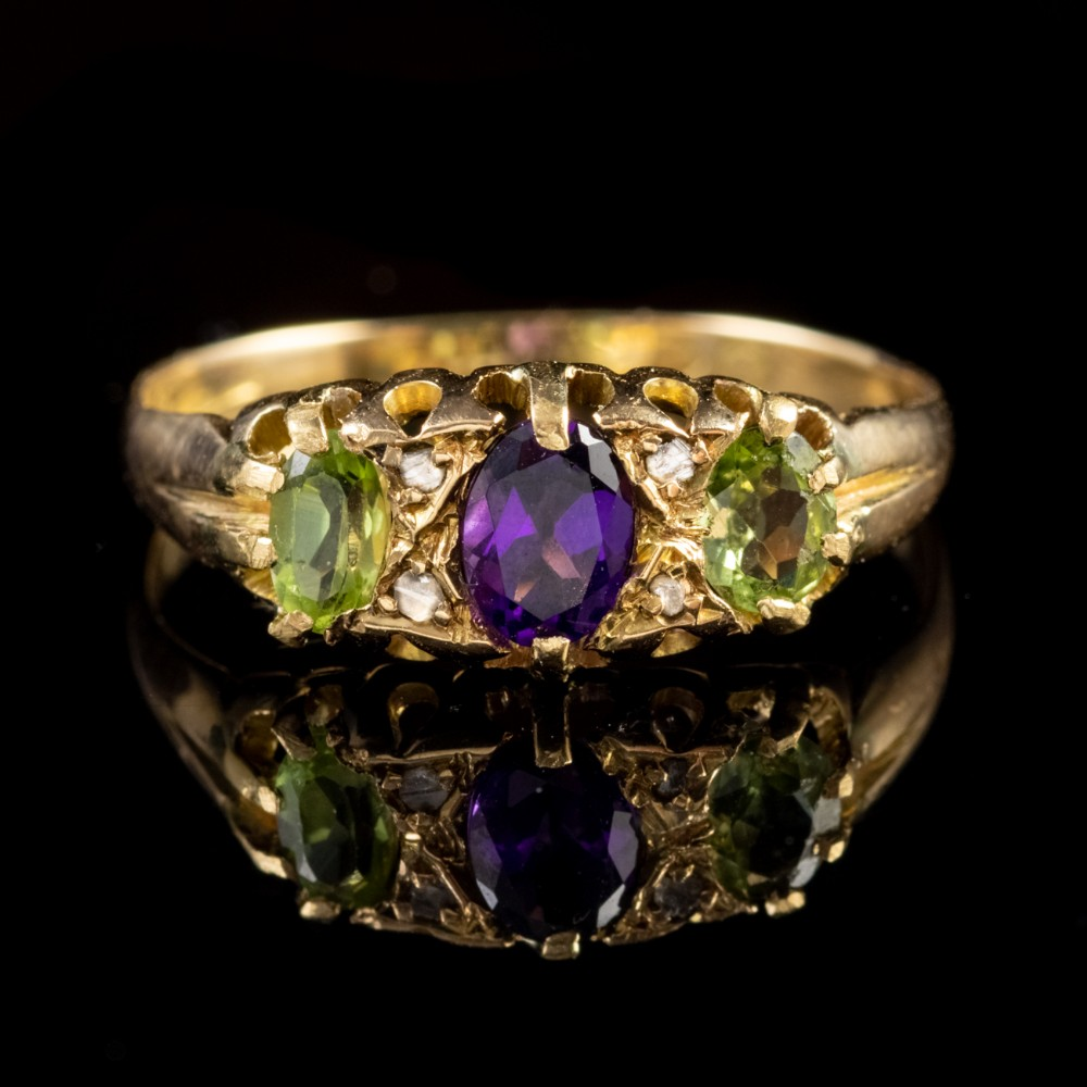 antique edwardian suffragette 18ct gold ring dated 1907