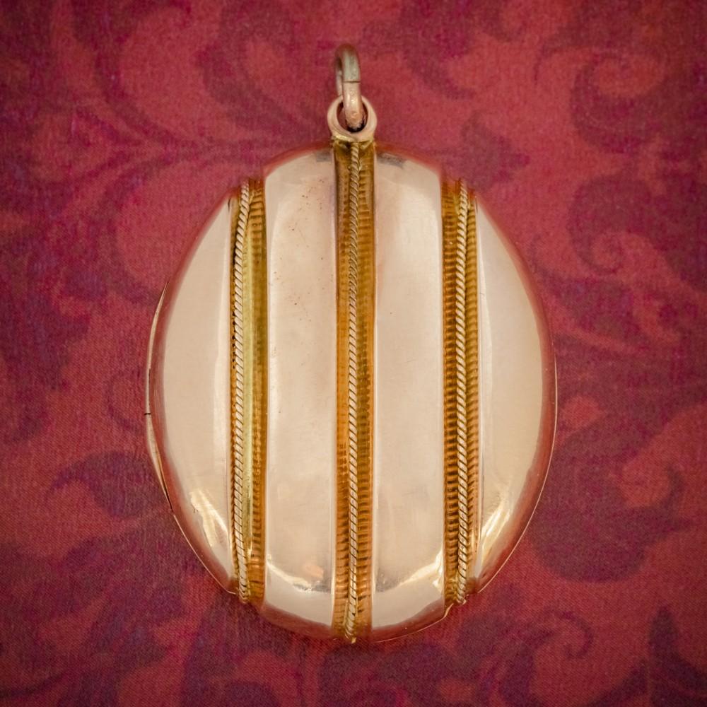 antique victorian 18ct gold locket mourning hair circa 1860