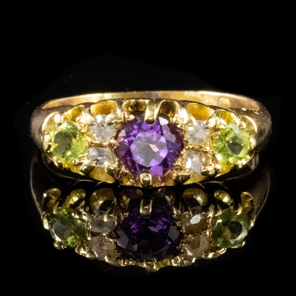 antique victorian suffragette ring 18ct gold dated 1886