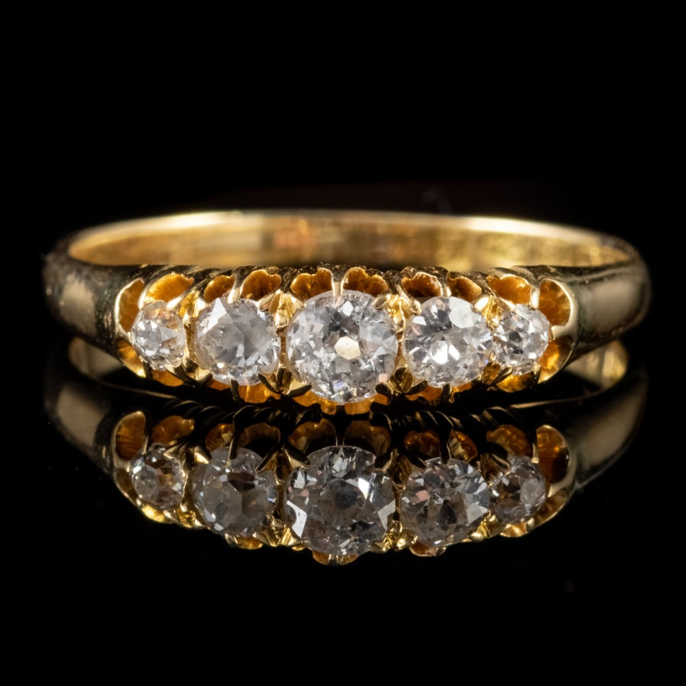 antique victorian 080ct diamond ring 18ct gold dated chester 1893