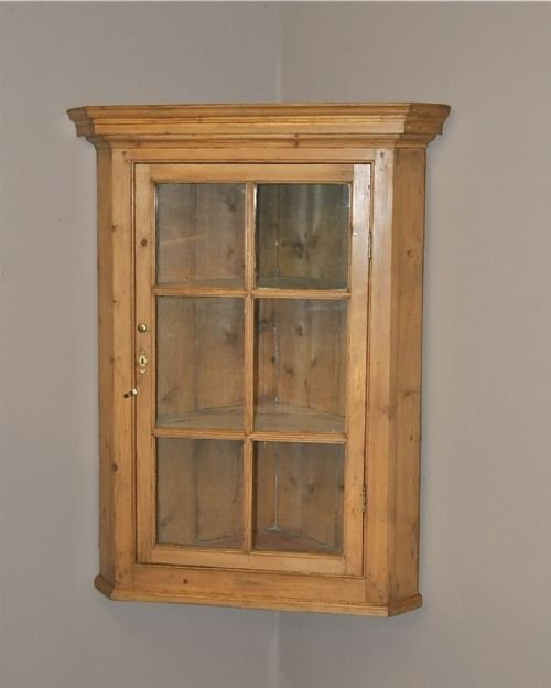 pine corner cupboard - Pine Corner Cupboard 98055 Sellingantiques.co.uk