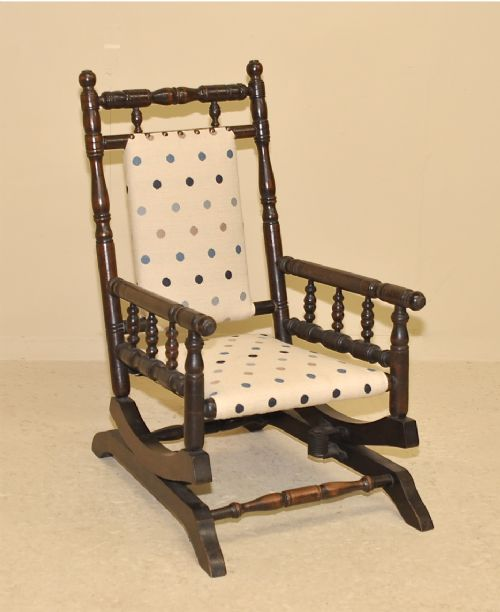 antique child's rocking chair - Antique Child's Rocking Chair 223521 Sellingantiques.co.uk