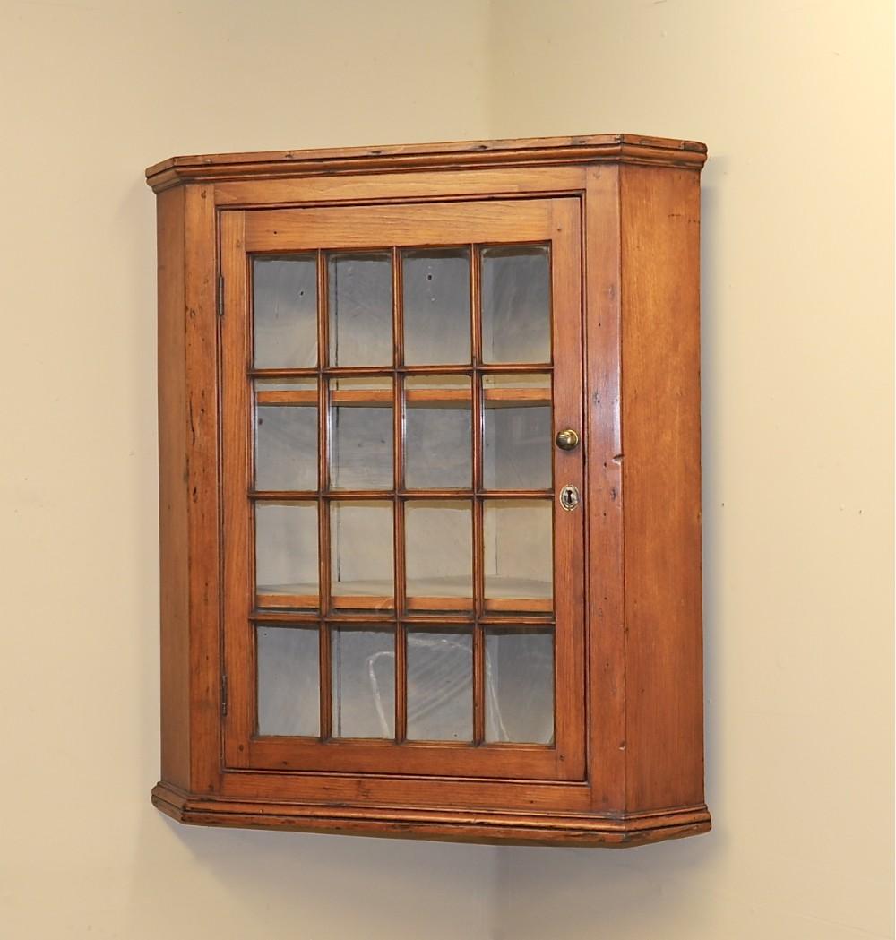 antique pine corner cupboard - Antique Pine Corner Cupboard 253728 Sellingantiques.co.uk