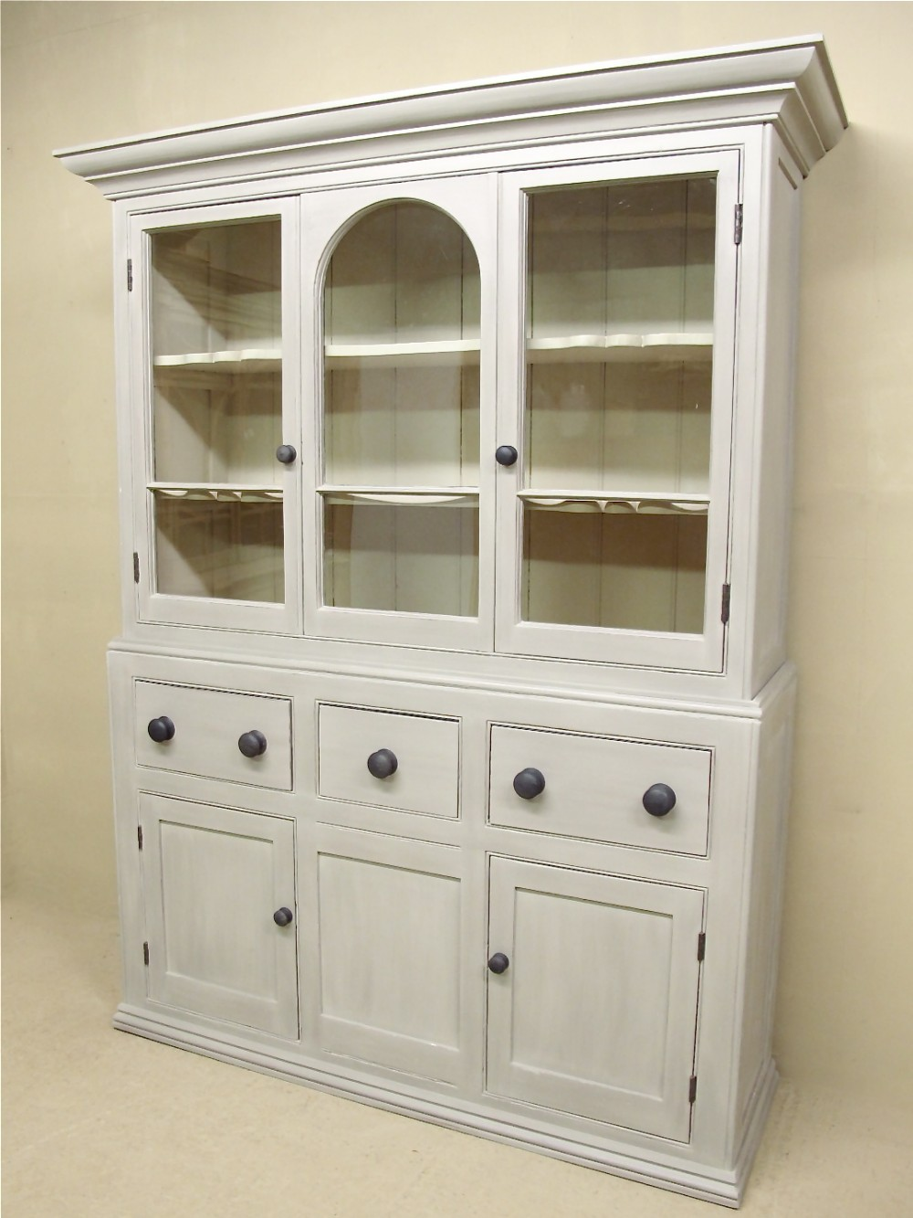 Kitchen Dresser Pine Glazed Kitchen Dresser 283828 Sellingantiquescouk