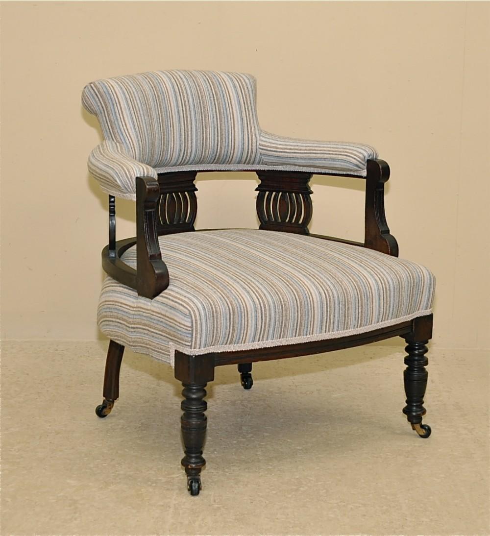 Edwardian Tub Chair   242443   Sellingantiques.co.uk