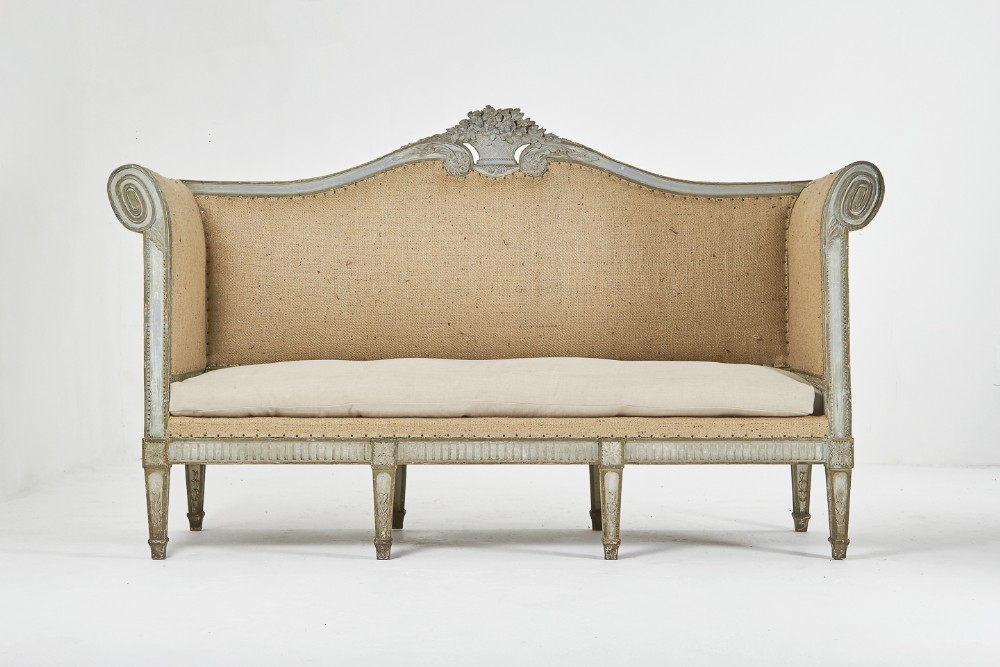 large 18th century french sofa with original paint
