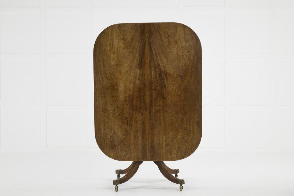 english regency mahogany tilt top breakfast table