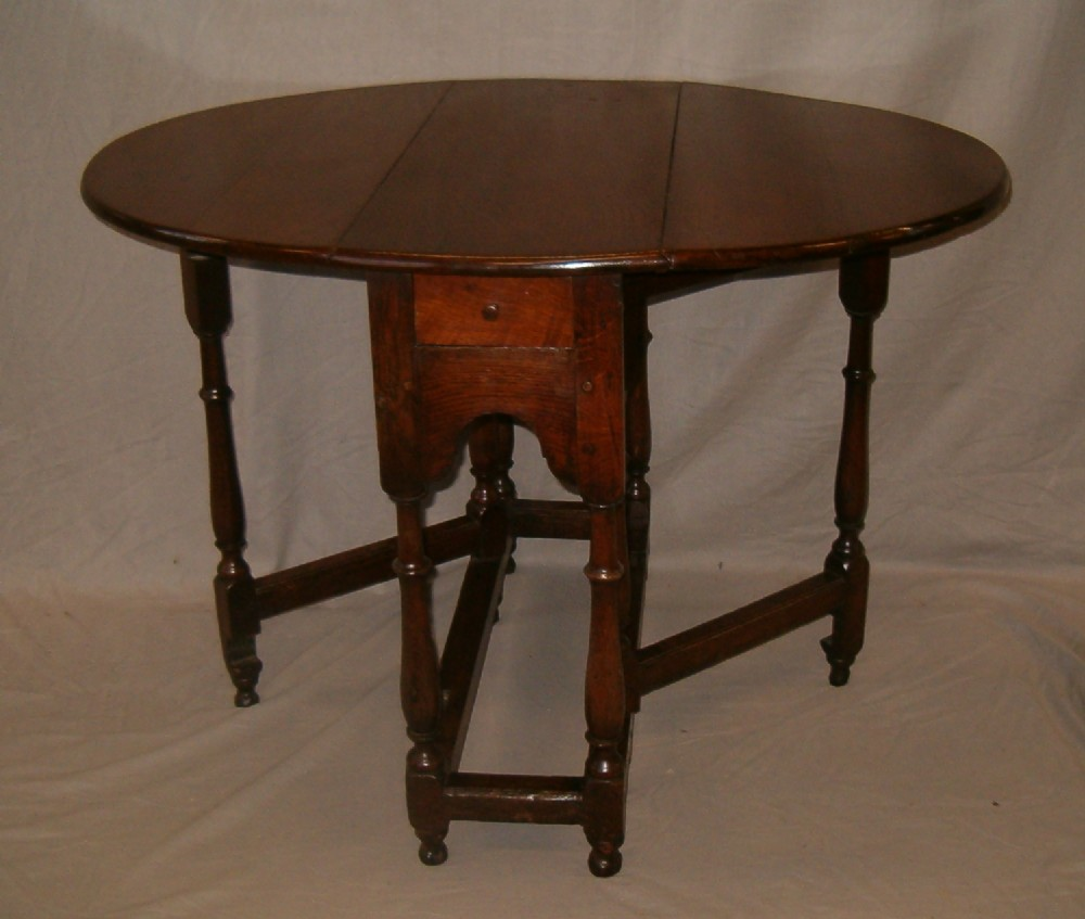 C1700 oak gateleg table for Gateleg dining table