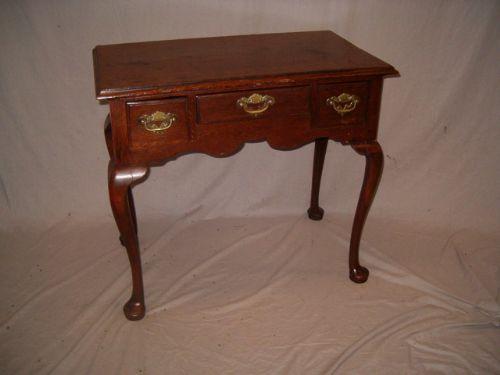mid 18th century oak lowboy side table