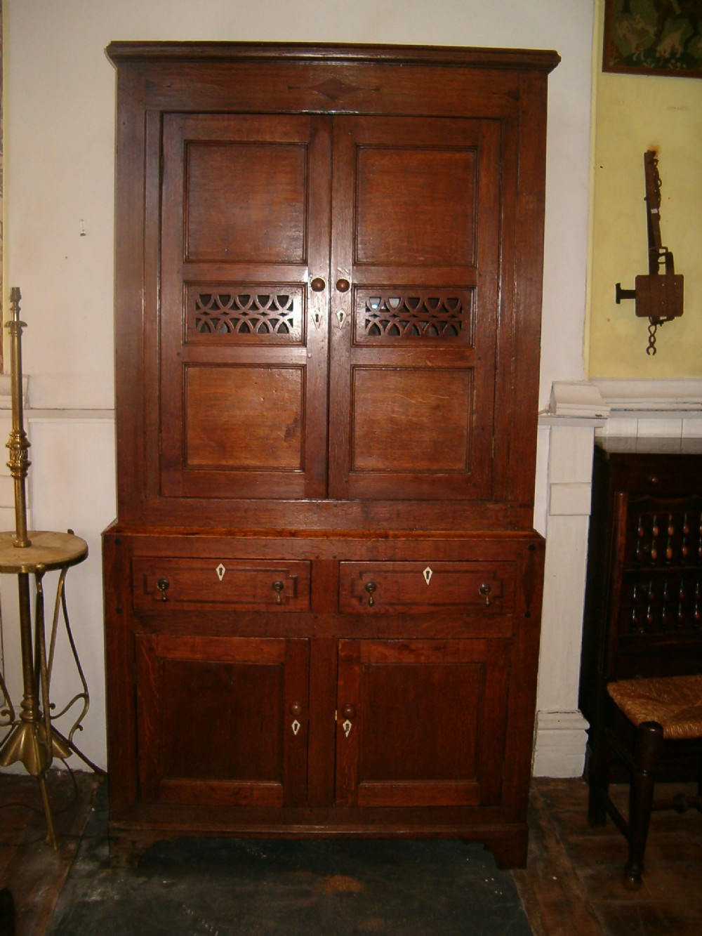 Antique Food Safe Or Cheese Cupboard 204475