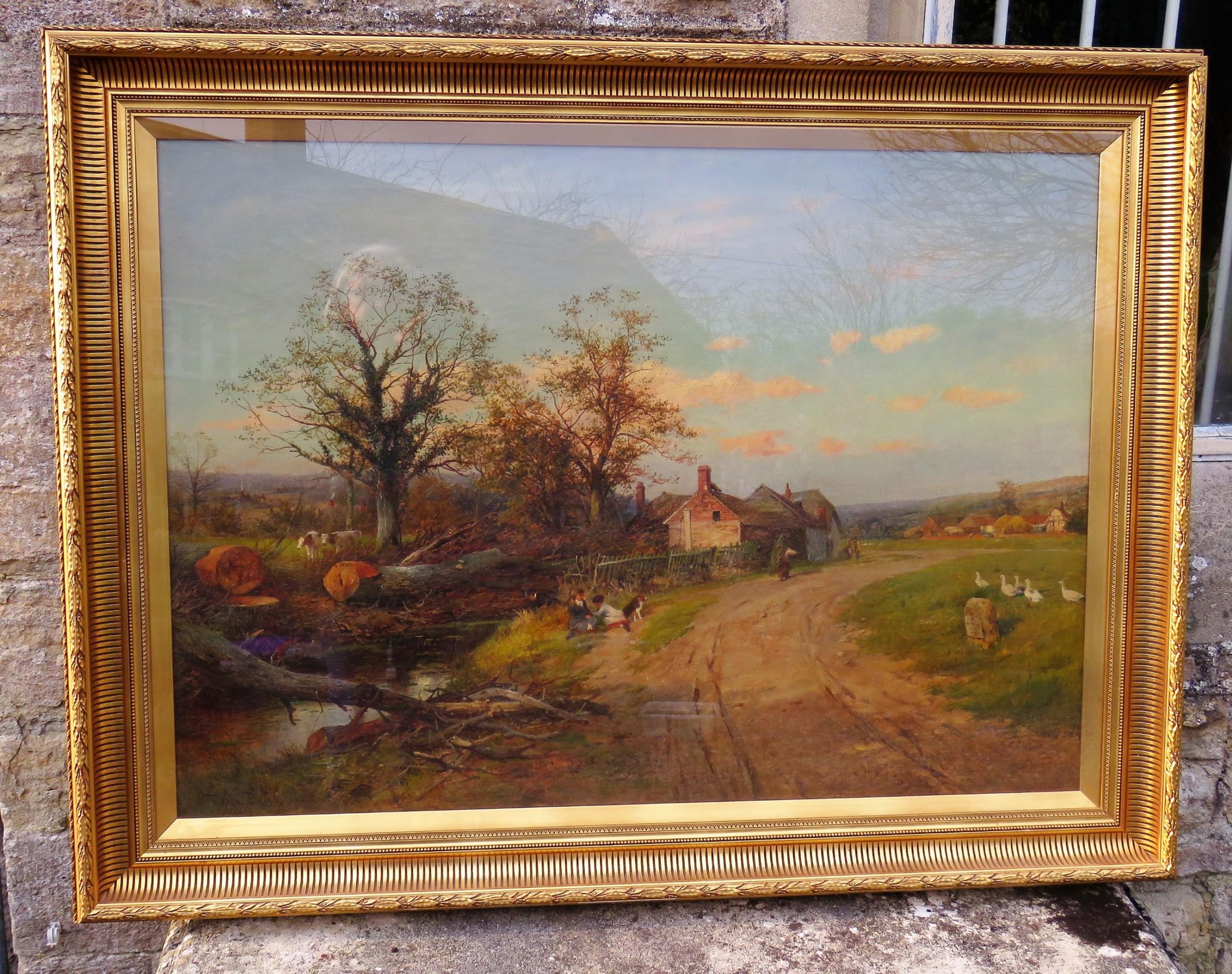 large landscape oil painting by david bates