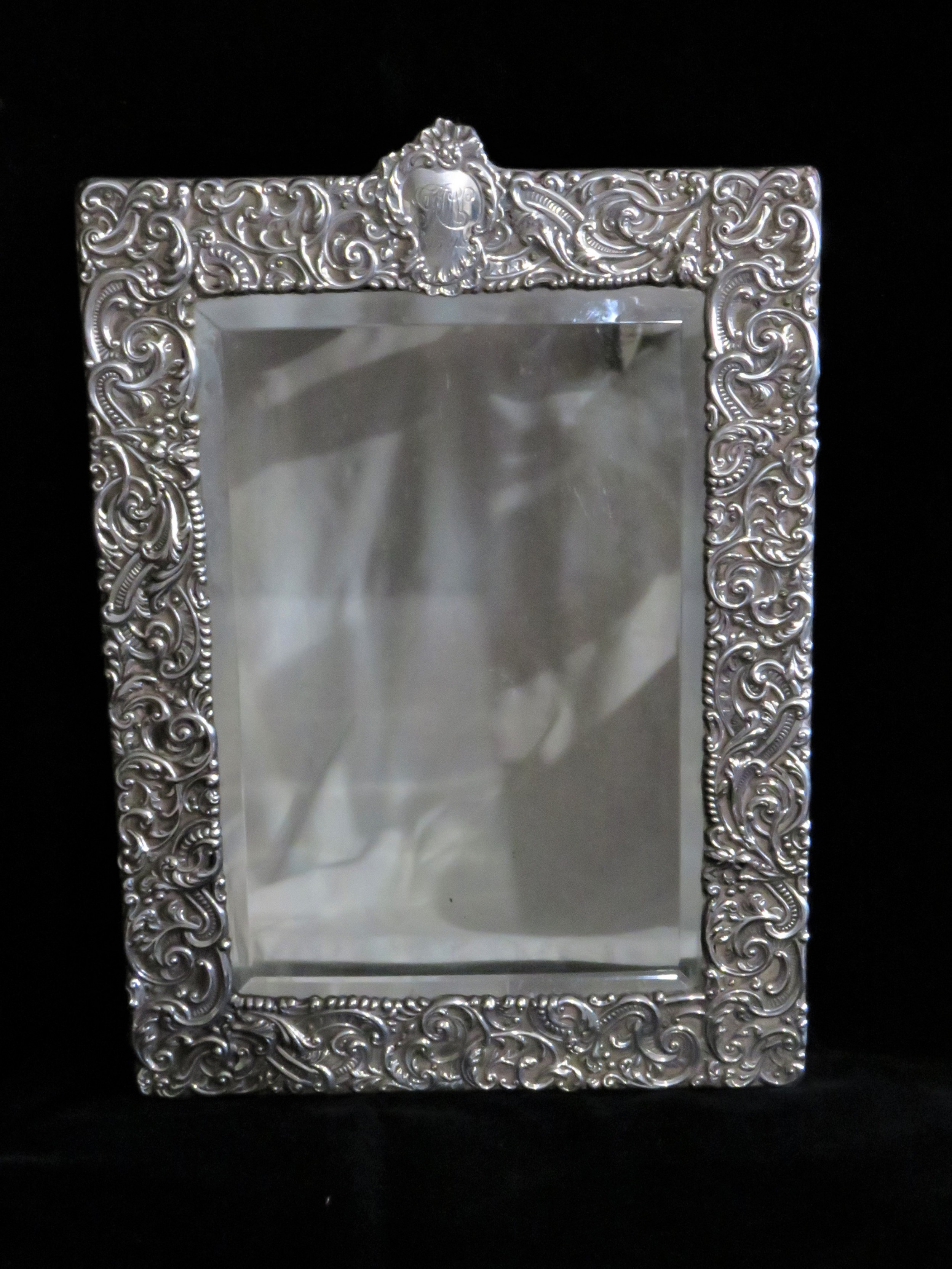 gorgeous silver dressing table mirror