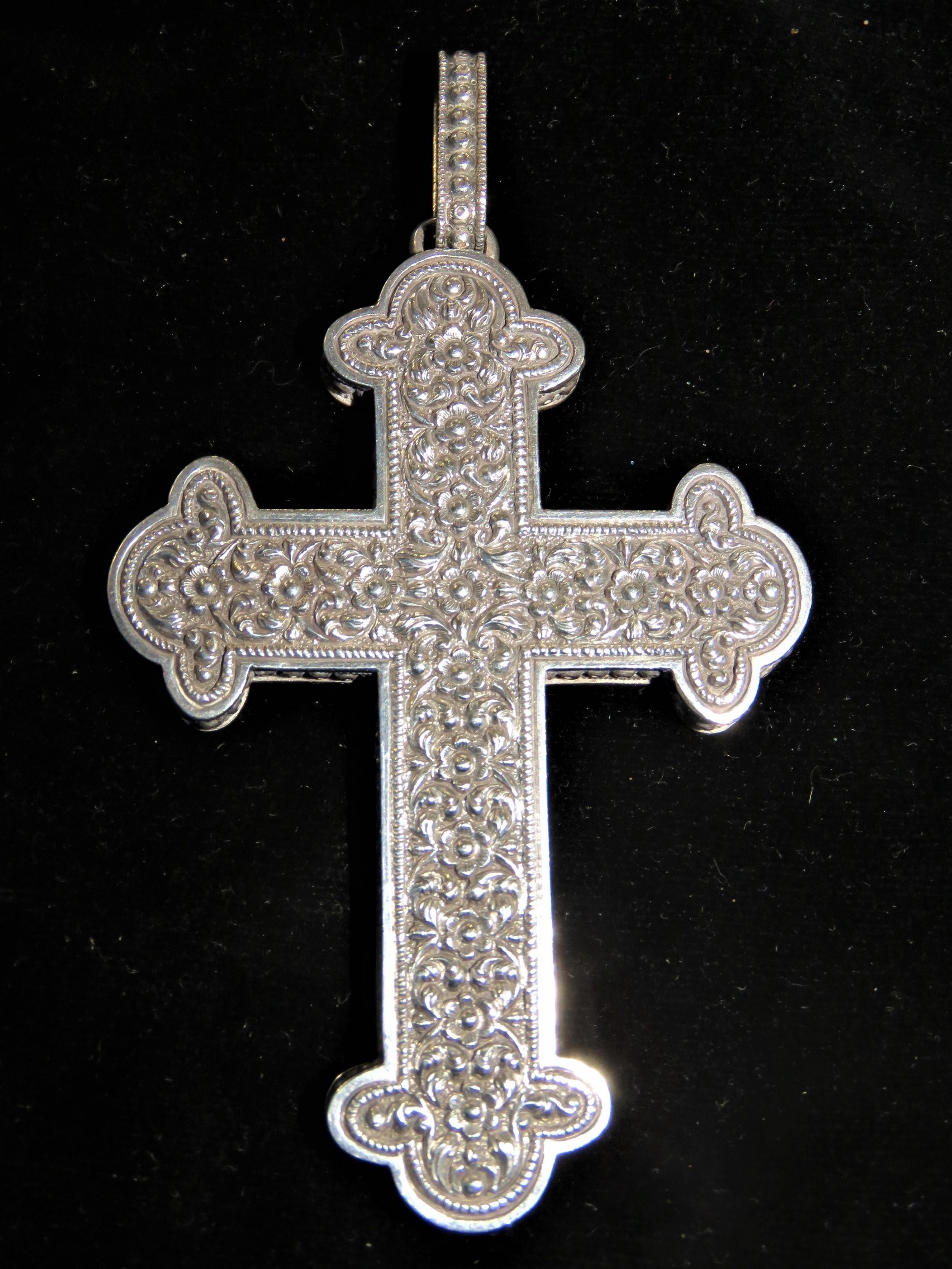 celtic style silver cross pendant