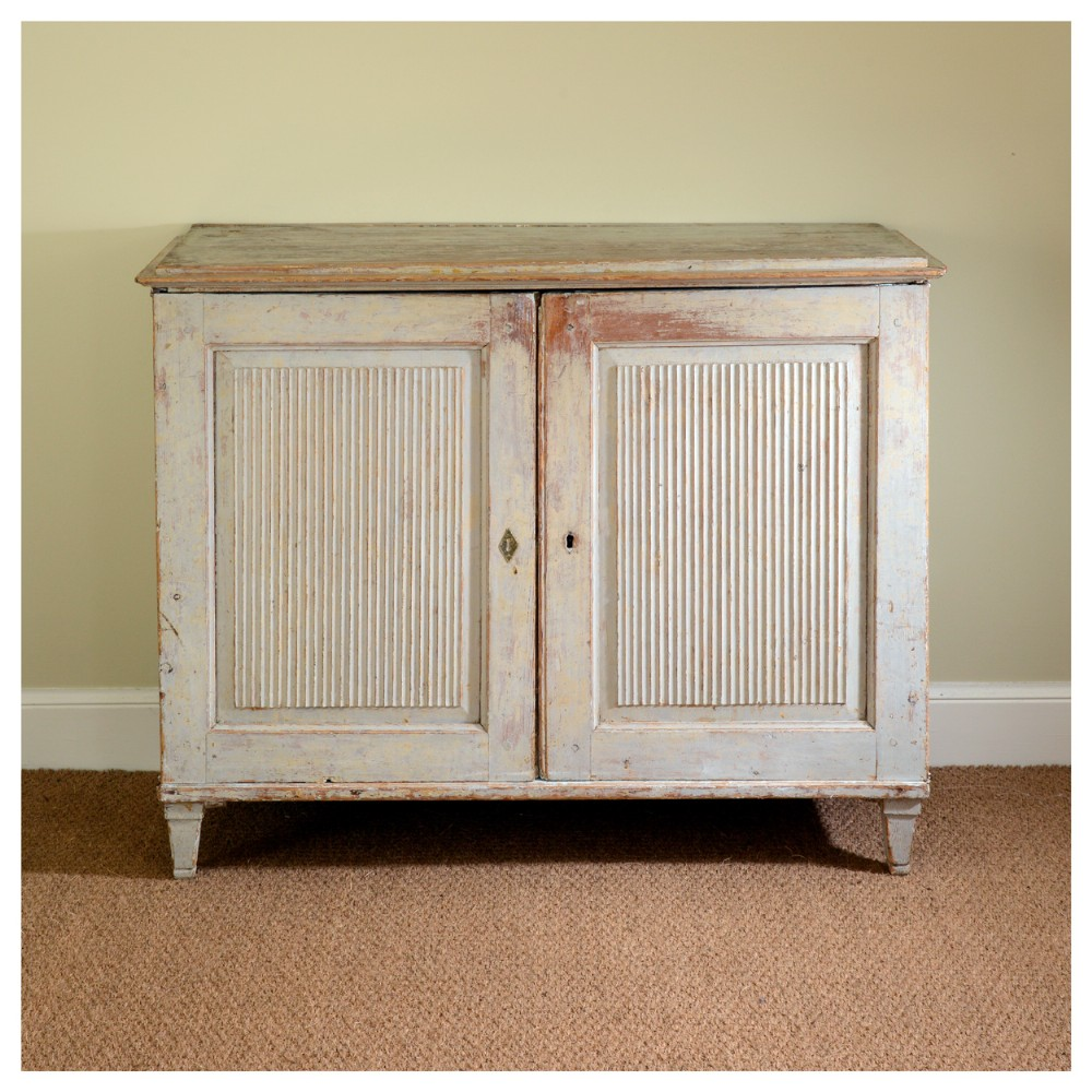 a continental painted pine sideboard