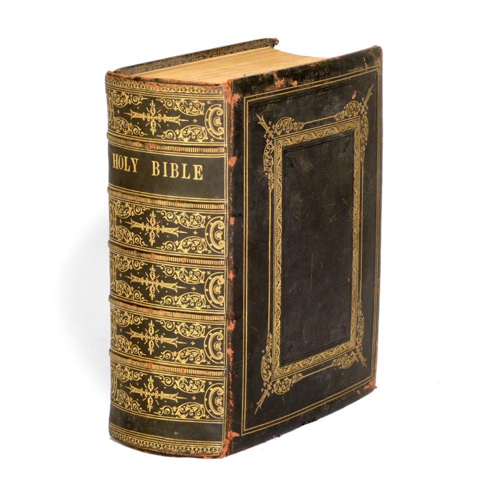 henrys bible well bound in leather