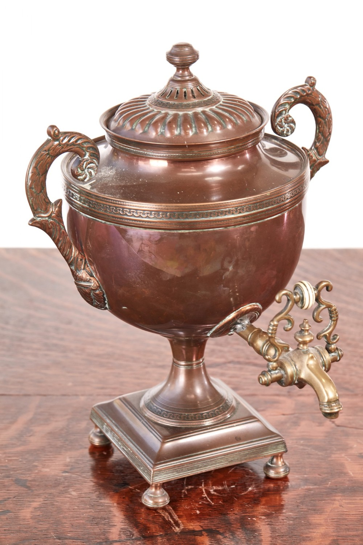 fine small regency copper samovar