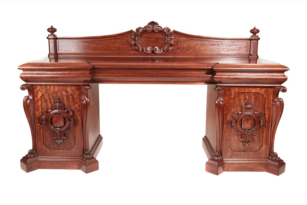 large magnificent quality william iv carved mahogany sideboard