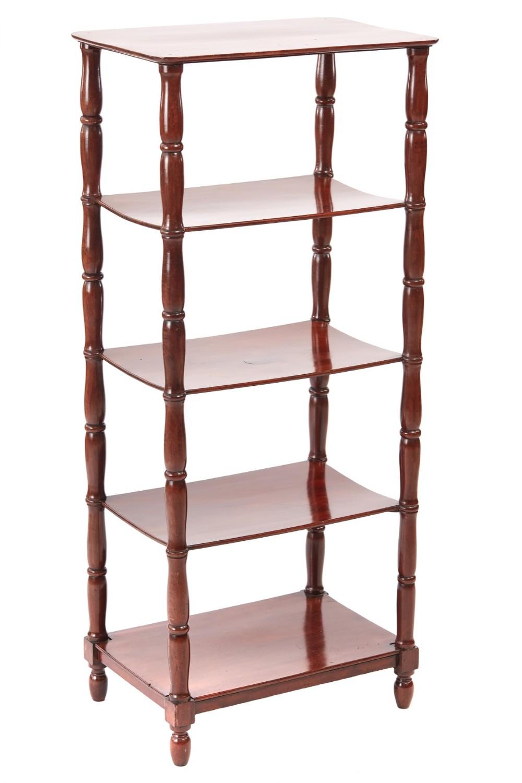 william iv mahogany freestanding five tier whatnot