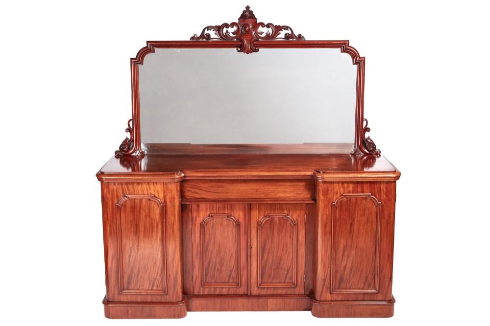 fine quality victorian mahogany four door sideboard