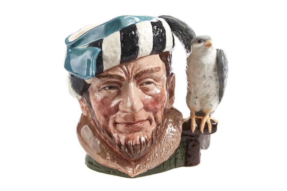 character 'the falconer' toby jug by royal doulton
