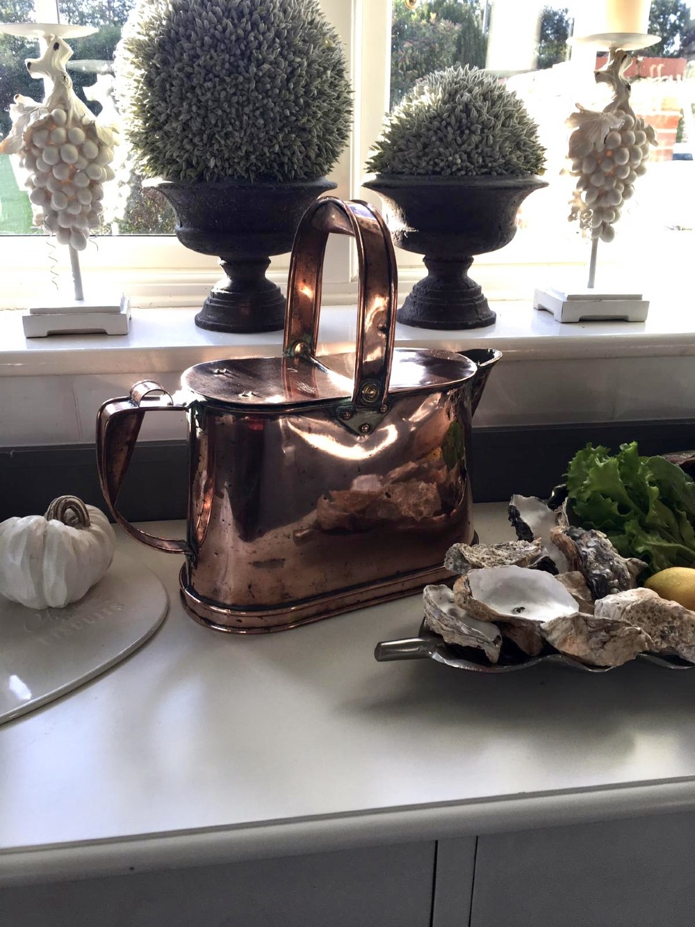 quality antique victorian copper watering can