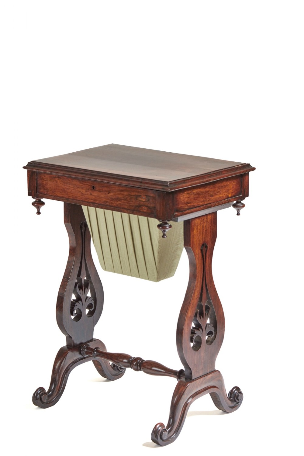 victorian rosewood freestanding work or lamp table