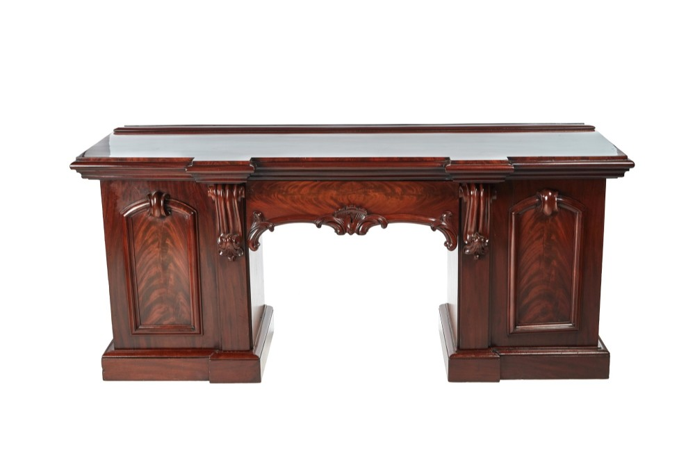 fantastic quality victorian carved mahogany sideboard