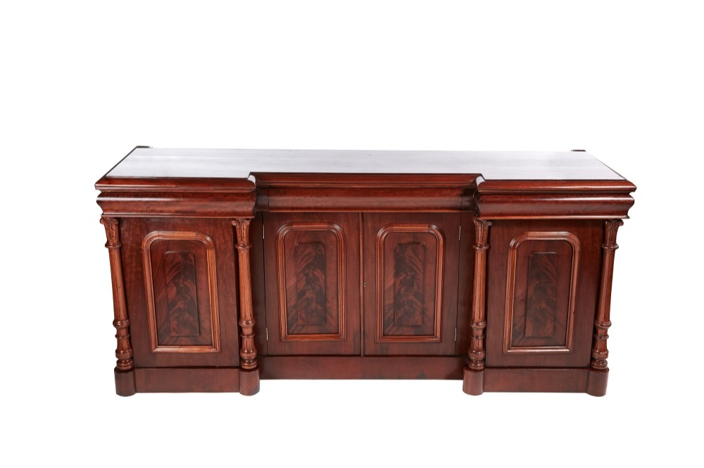 outstanding quality antique victorian mahogany mirrored sideboard