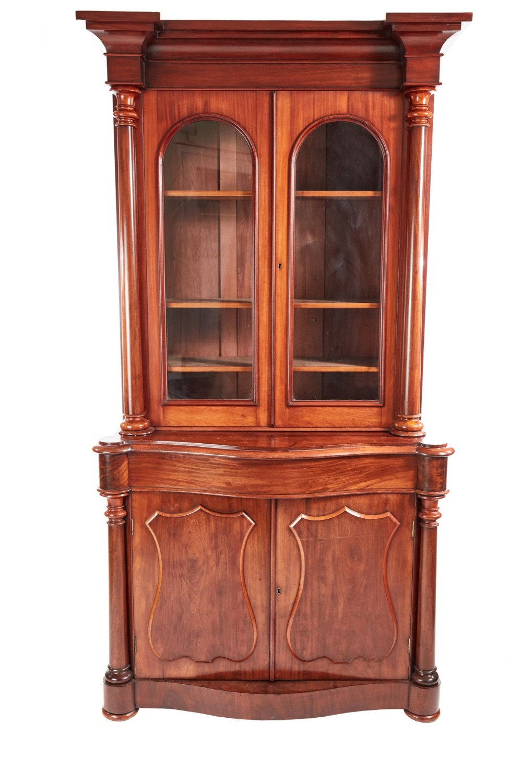 quality 19th century victorian antique mahogany bookcase