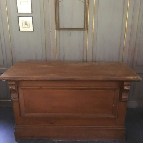 19th century six drawer panelled shop counter