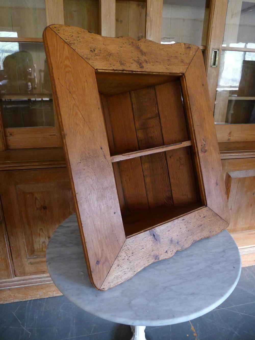 19th century continental pine corner shelves