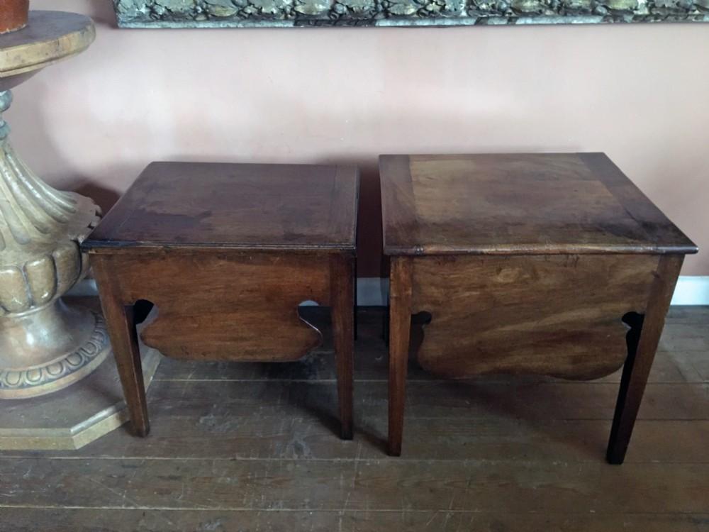 pair of georgian mahogany low tablesc1760