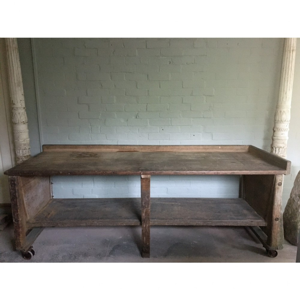 early 20th century baker's table