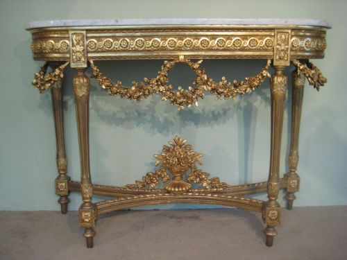 19th Century French Louis Xvi Style Gilt Console Table | 191020 ...
