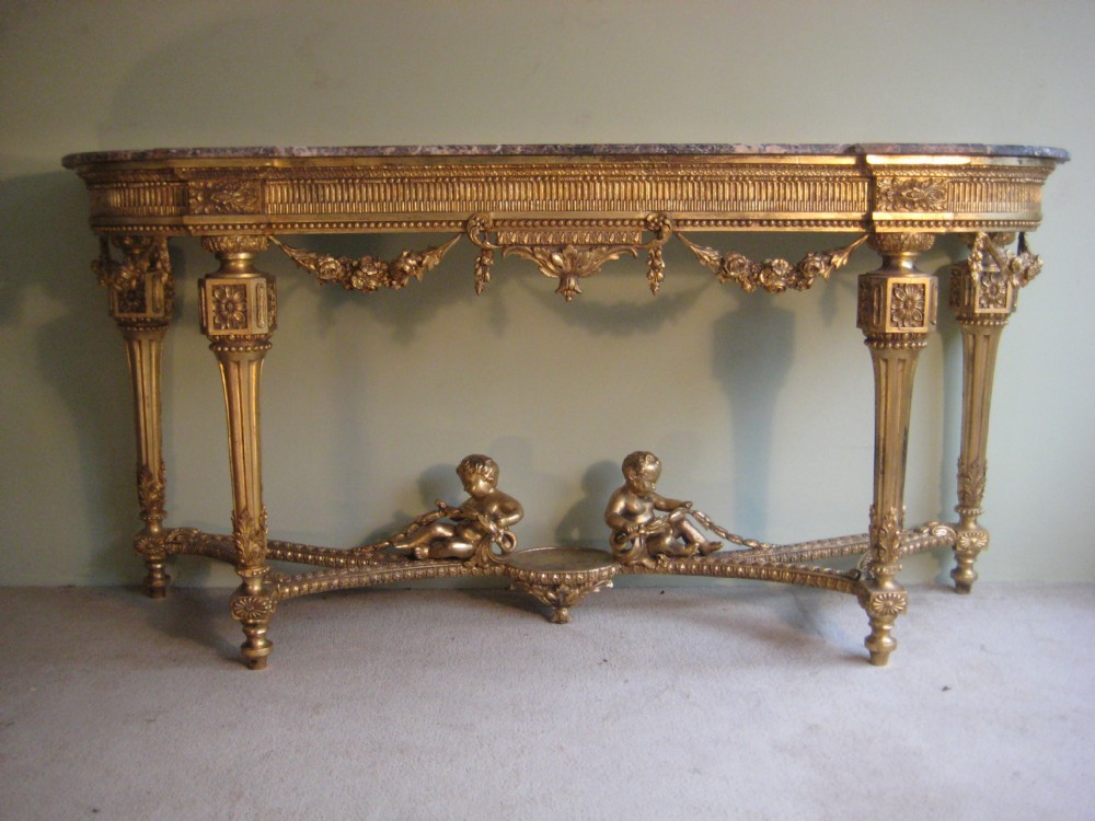 19th Century Louis Xvi Style Gilt Console Table | 243598 ...