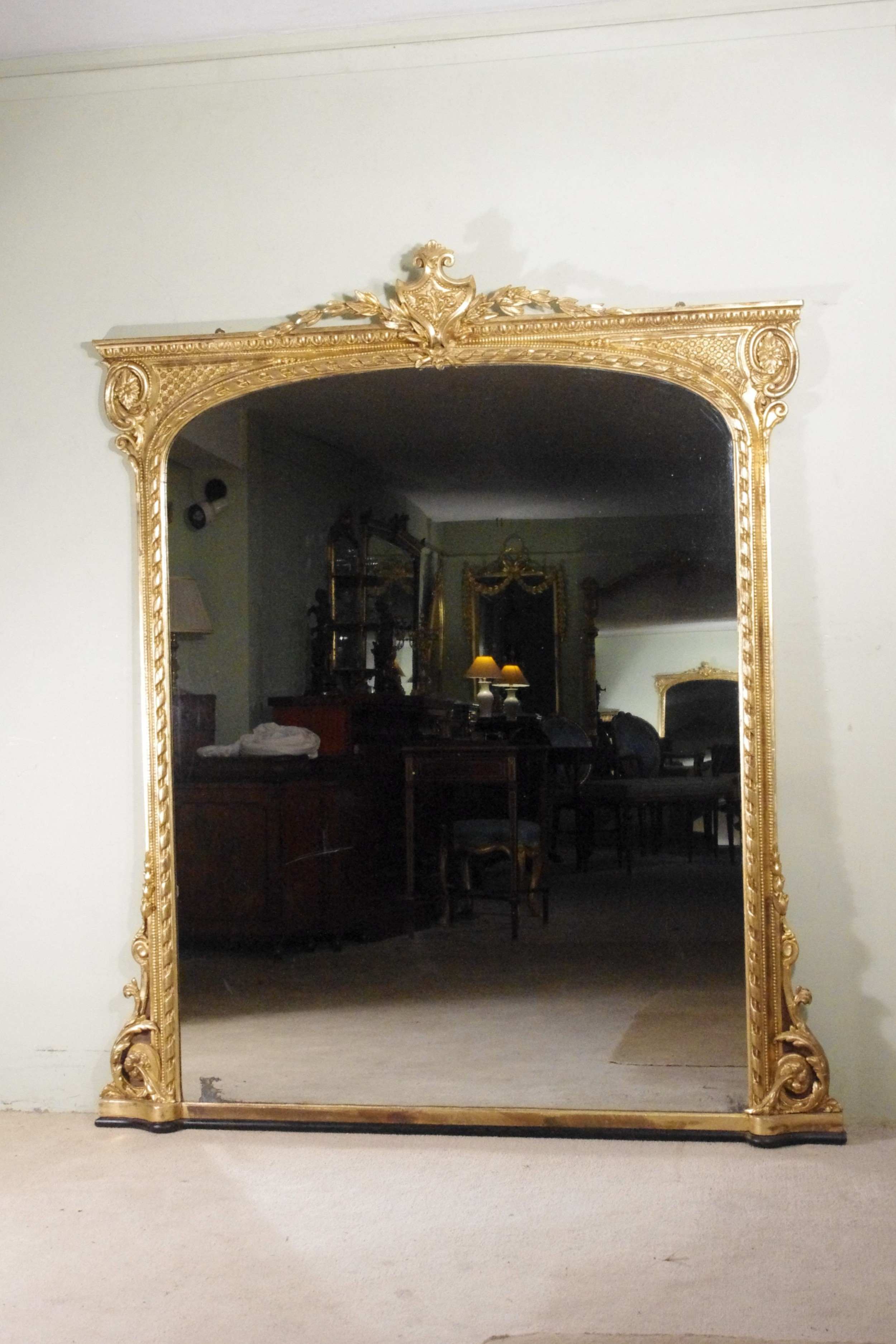 english victorian gilt large overmantle mirror