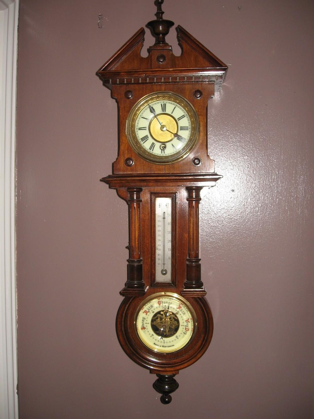 Clock Barometer Thermometer 276764 Sellingantiques