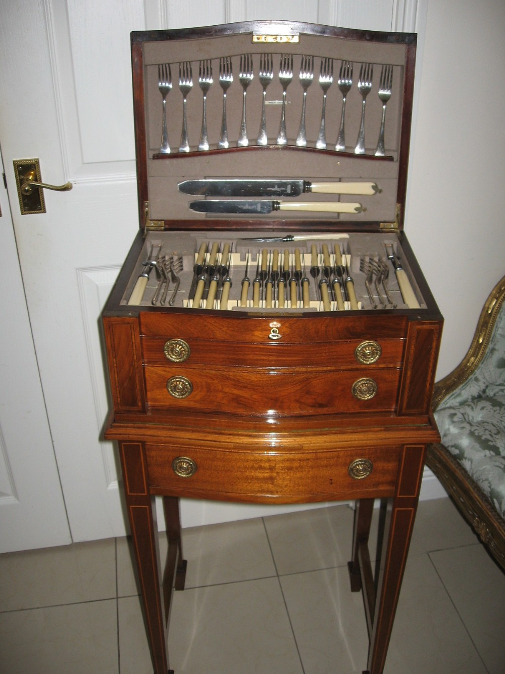 Cutlery Cabinet On Stand | 282988 | Sellingantiques.co.uk