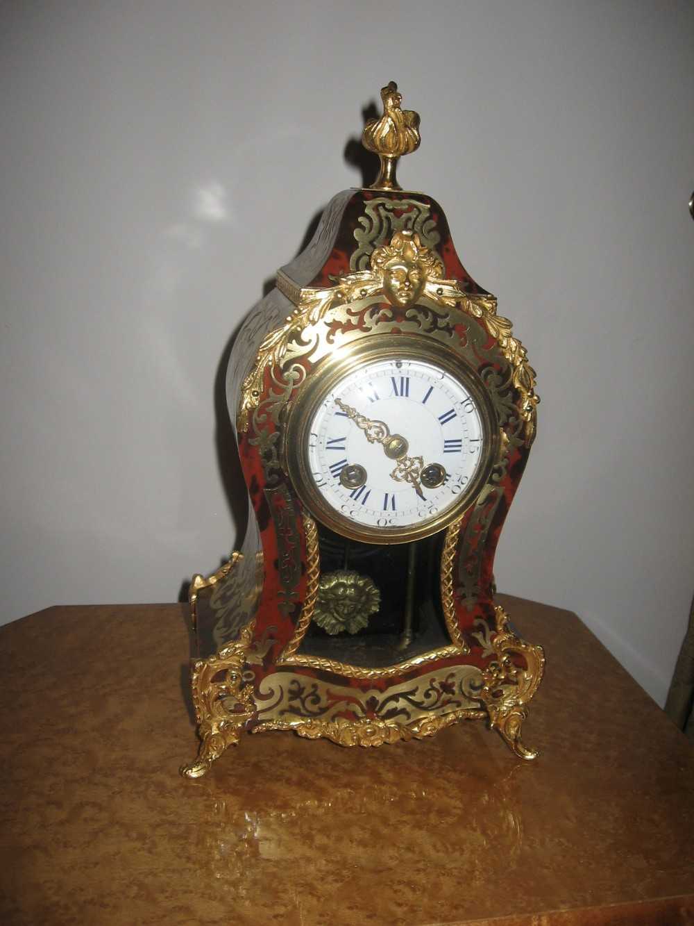 antique boulle mantle clock