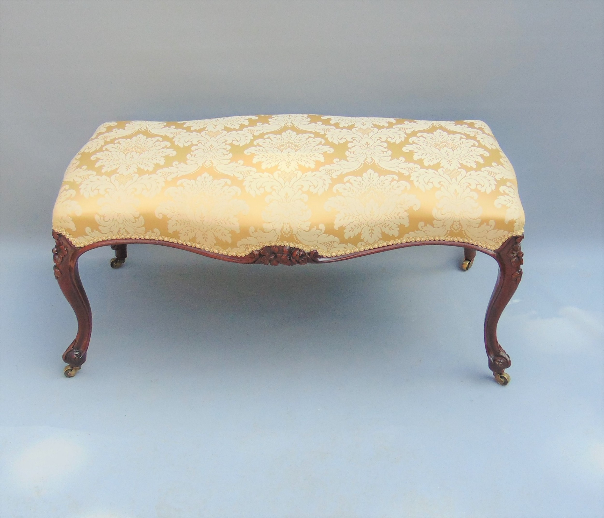 a fabulous large victorian stool seat