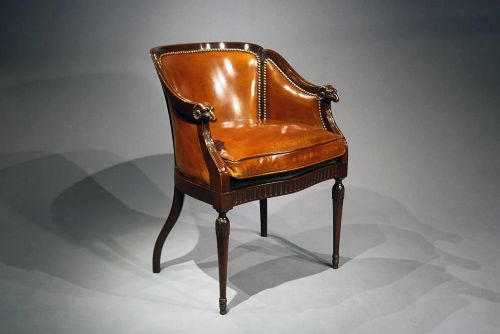 a quality antique leather tub chair - A Quality Antique Leather Tub Chair 244412 Sellingantiques.co.uk