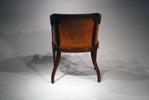 a quality antique leather tub chair 244412 sellingantiques co uk