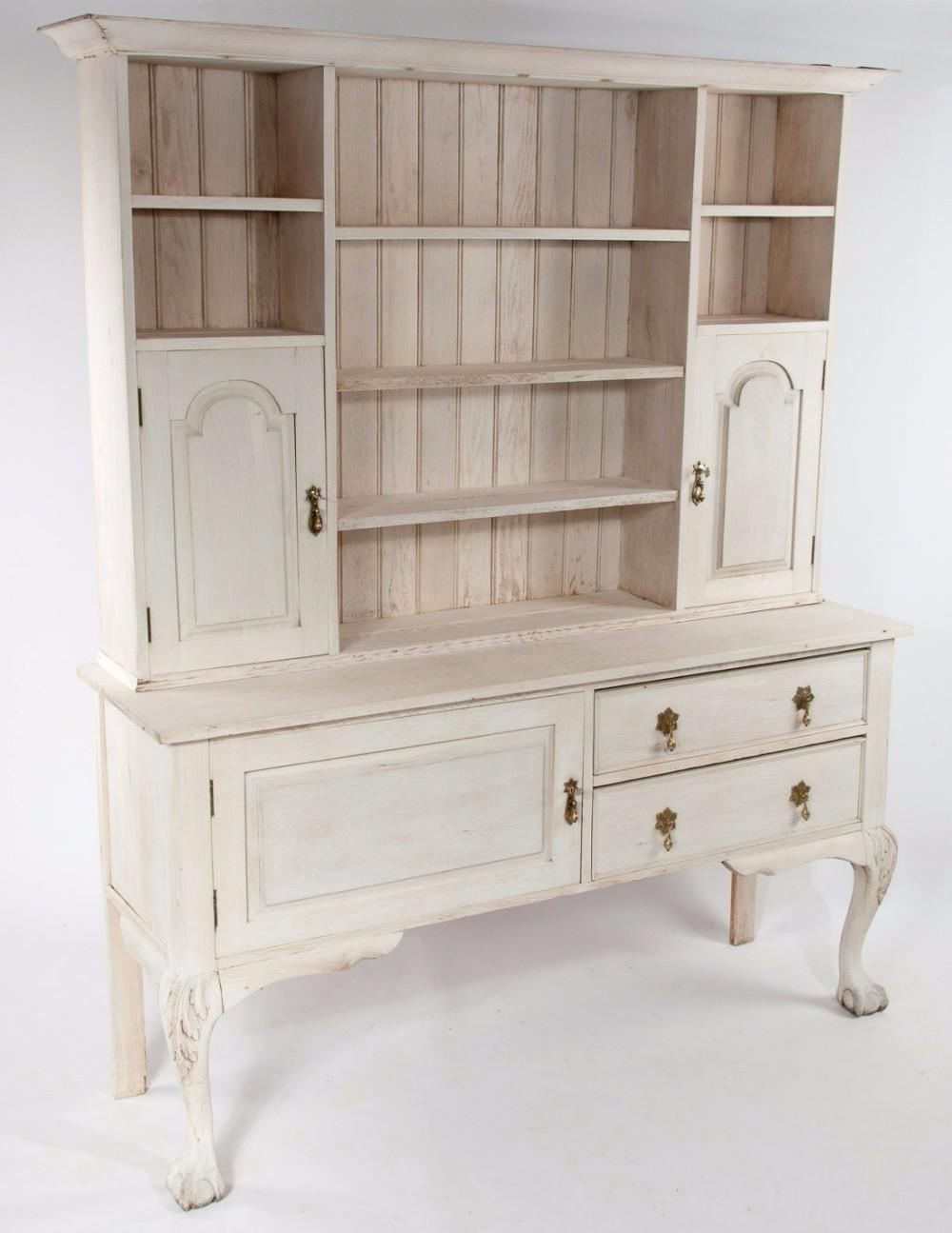victorian bleached oak dresser