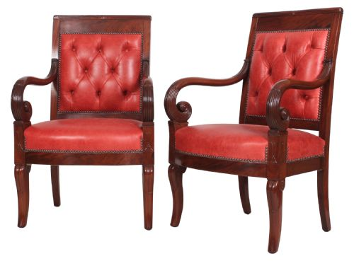 Dated 1850 - Antique Empire Chairs - The UK's Largest Antiques Website