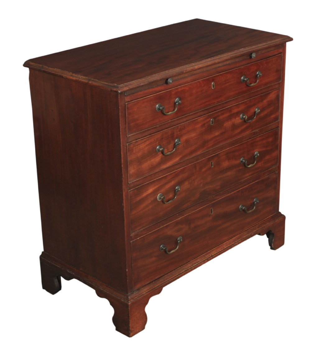 small georgian mahogany bachelors chest