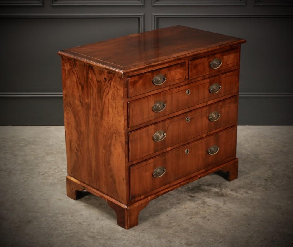 small georgian walnut chest of drawers