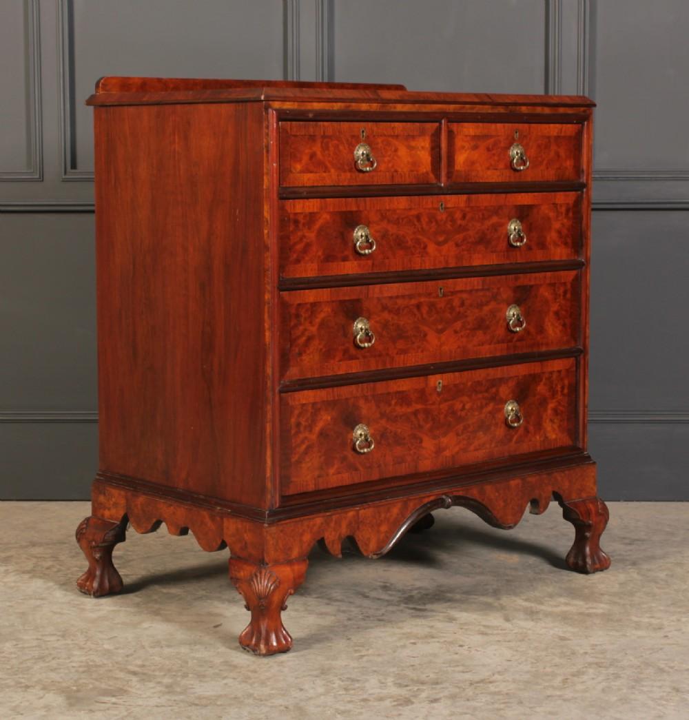 queen anne style walnut chest